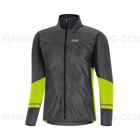 GORE® Maillot à manches longues R5 GORE-TEX INFINIUM™ Soft Lined Homme   Black/Neon Yellow