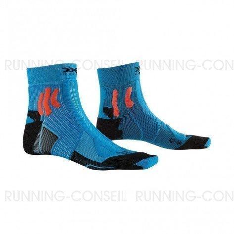 X-SOCKS Chaussettes Trail Run Energy mixte   Teal Blue / Sunset Orange