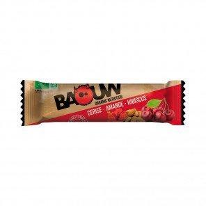 BAOUW Barres énergétiques bio   Cerise - Amande - Hibiscus   Pack de 3