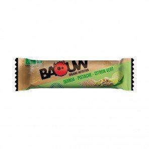 BAOUW Barres énergétiques bio   Quinoa - Pistache - Citron vert   Pack de 3