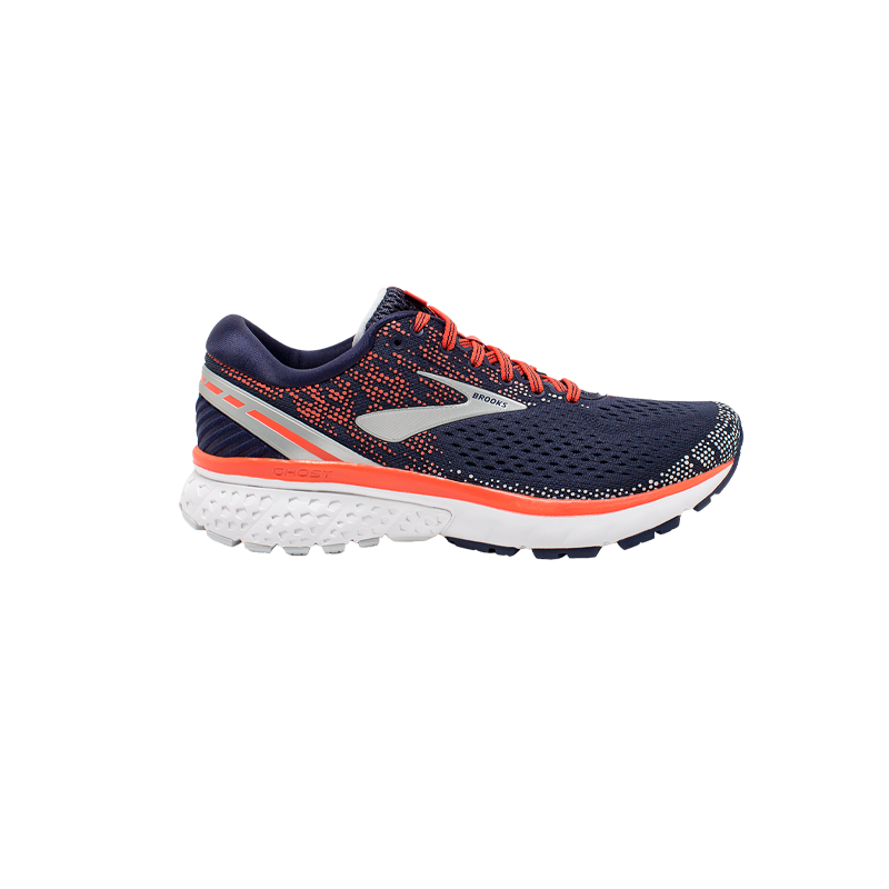 BROOKS GHOST 11 FEMME | NAVY/CORAL/GREY